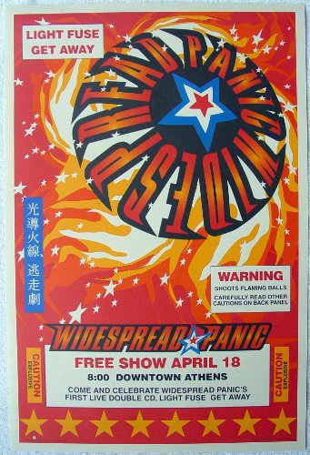 Widespread Panic Panic in the Streets Free Show Downtown Athens, Ga with FREE - Downtown La In Stores