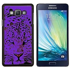 Stuss Case / Funda Carcasa protectora - Tigre Negro Animal Elegante - Samsung Galaxy A7 ( A7000 )