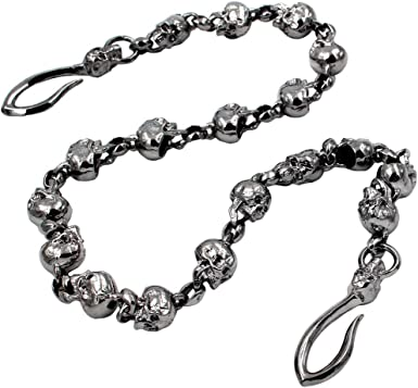 Strong Heavy Soft Flat wallet chain Swivel Trigger snap Biker Punk Key chain