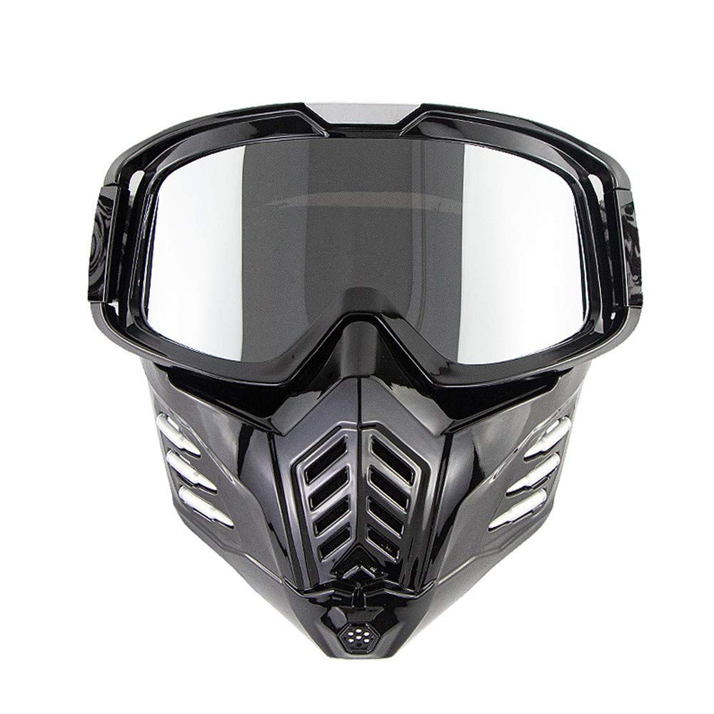 DLRUIHENGXIANGMU Face Masks Mask Airsoft Masks Riding Mask Motorcycle Goggles Mask Men and Women Detachable Protective Mask Anti-Shock Uv Goggles Ski Tourism Riding 7.32inx8.14in by DLRUIHENGXIANGMU