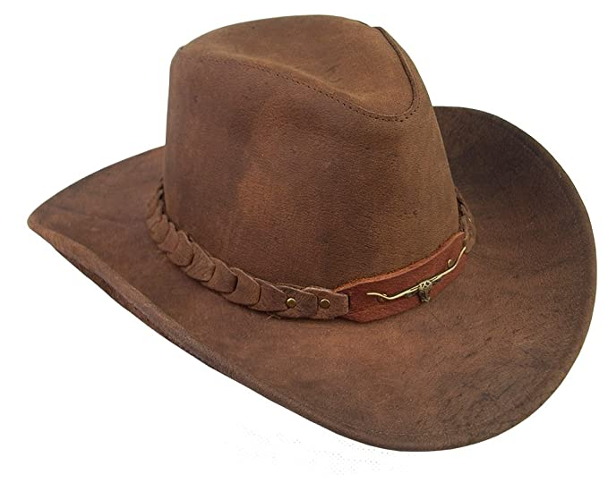 87cc30be0b4 Kakadu Traders 6HW46 Brumby Leather Hat at Amazon Men s Clothing store