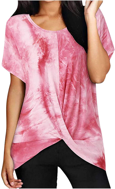 YANFANG Camisa Minimalista de deconstrucción de torceduras con teñido Anudado a la Moda para Mujer,Larga Sudadera Casual Top Túnica Tops Jersey Largo