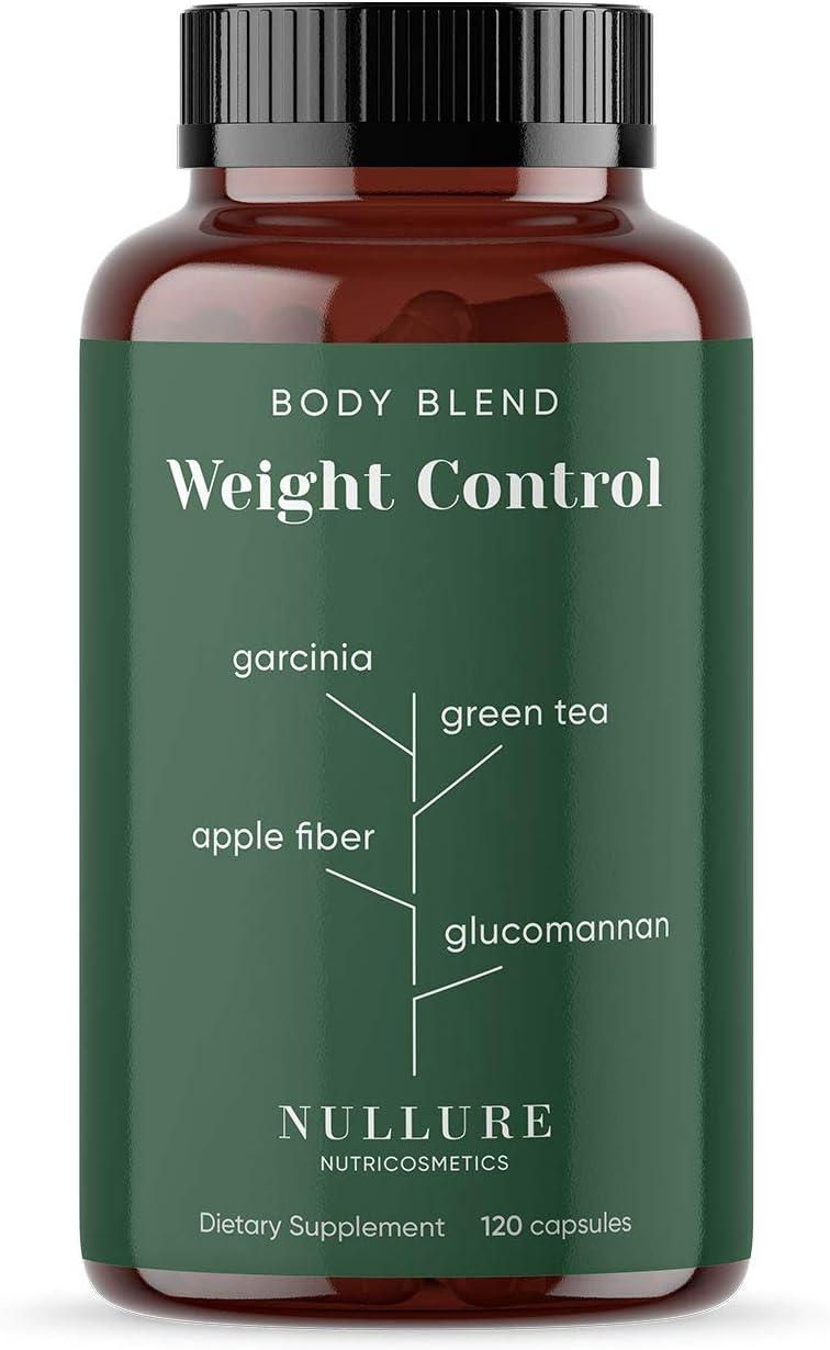Nullure Ayuda para Adelgazar Natural   Controlar el Peso, Mejorar la Digestión y Regular el Apetito - Garcinia Cambogia + Té Verde + Glucomanano + ...