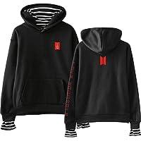 Flyself Unisex BTS Hoodies Mock Two-Pieces Sweatshirt Bangtan Boys Love Yourself Jumper Pullover Hip Pop Sweater for…