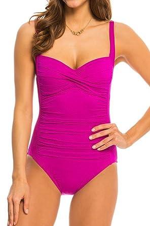 Ecute Damen Badeanzug Figurformend Einteiler Push Up Schwimmanzug ... 47dfd3cced