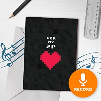 Amazon Com Gamer Valentines Card With Recordable Music Player