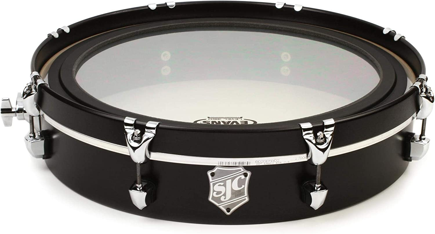 4 Inches X 20 Inches Chrome Hardware SJC Custom Drums UFO Gong Drum