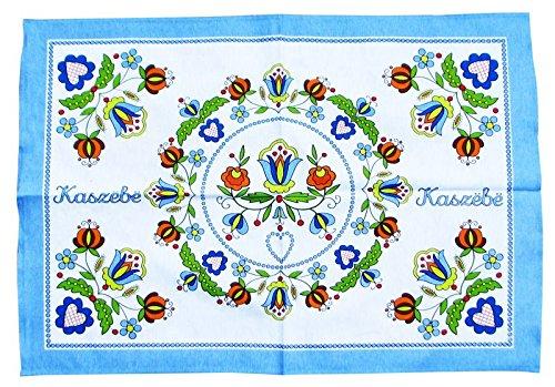 (Polish Kashubian Folk Art Kitchen Towel)