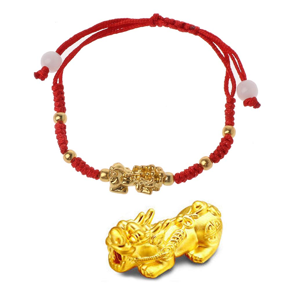 puhoon Chinese Feng Shui Bracelet, Pi Xiu Kabbalah, Red String Lucky Protection (C) by puhoon (Image #1)