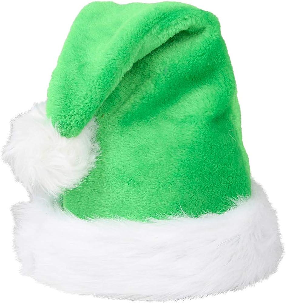 Christmas Purple Plush Faux Fur Trim Santa Hat Costume Accessory
