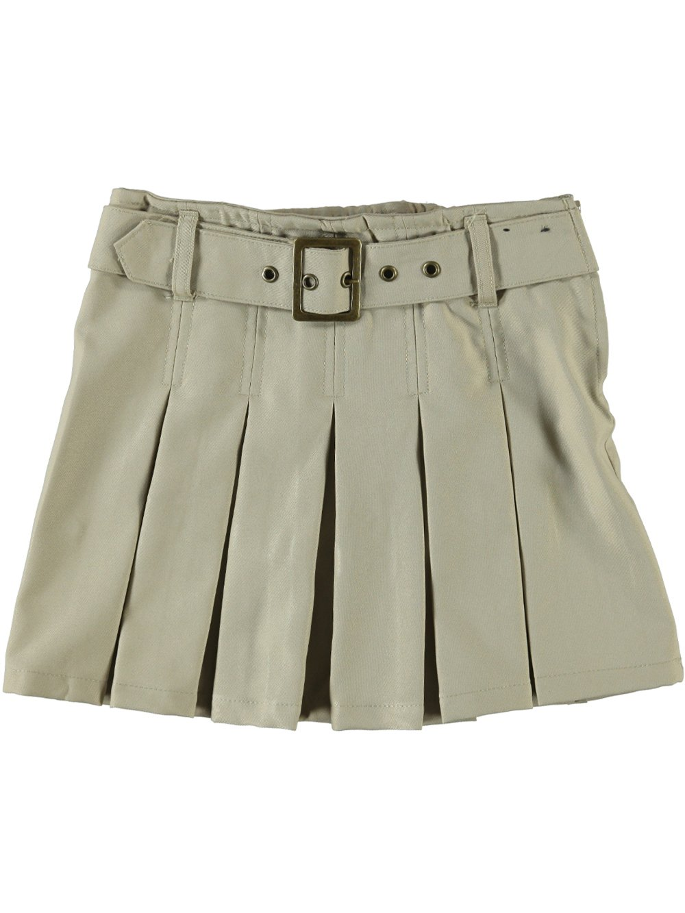 French Toast Big Girls' Scooter with Grommeted Belt - khaki, 7