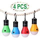 Vdealen Camping Lantern Lamp Emergency Light Battery Powered Waterproof Portable Bulb for Hiking Fishing Camping Household Car Repairing(No battery) Wolike 4 Pcs of Outside Lights LED Tent Lamp