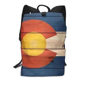 75af1321fa22 Amazon.com: Durable Polyester Daypack Vintage Wooden Pattern ...