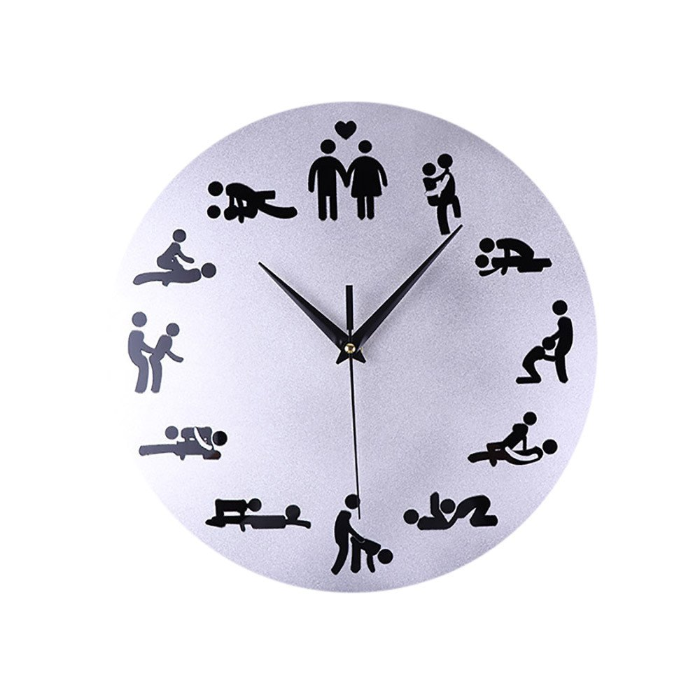 Danhjin Sexual Positions Wall Clock Adult Sex Game 24 Hours ...