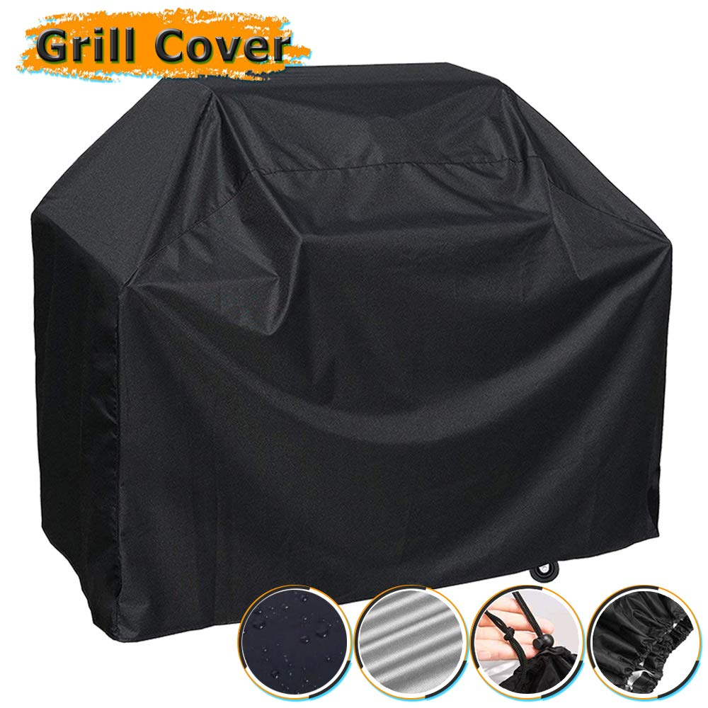 Grill Cover, 58 inch BBQ Gas Grill Cover Waterproof Weather Resistant, UV and Fade Resistant, UV Resistant Materia for Weber Char-Broil Nexgrill Grills and More, VIBOOS by VIBOOS