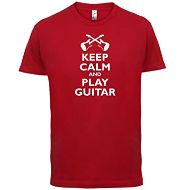 Keep Calm and Play Guitar - Herren T-Shirt - Rot - XS
