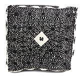Moroccan Handmade Large Floor Pouf in Black