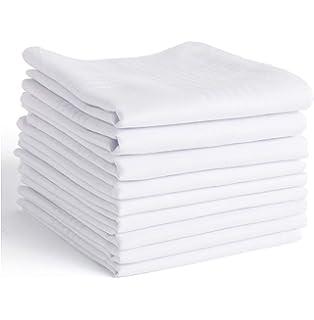 "Lot Pure Soft Cotton Plain Hankies Handkerchief 18X18/"" Free Shipping Choose Bulk"
