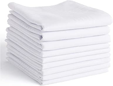 Mens Handkerchiefs,100/% Soft Cotton Pocket Handkerchiefs for Men Cotton 12 Pack