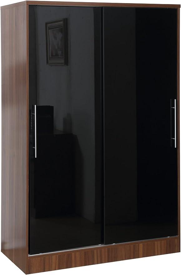 Armario con dos puertas correderas de alto brillo de Gladini, con ...