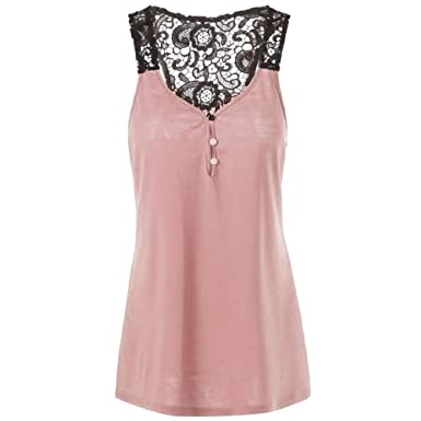 e88ecc32cef Amazon.com  Sumeimiya Womens Lace Patchwork Vest