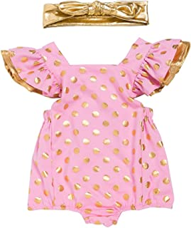 Zhhlaixing Traspirante Senza Maniche Pagliaccetto Jumpsuit Outfits per Toddler Baby Ragazze con la Fascia Bowknot