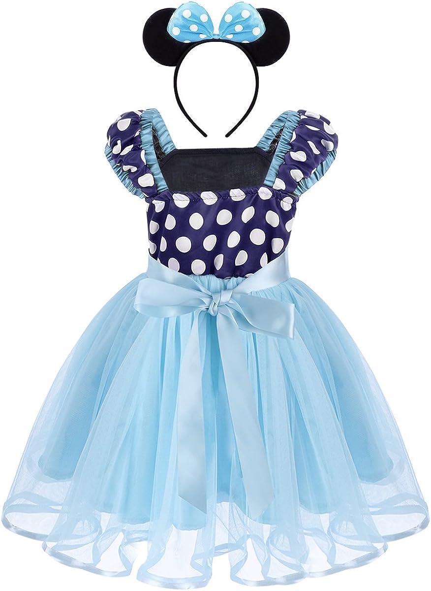 FYMNSI Vestidos de Princesa Lunares Niña Bebé Fiesta Tul Tutú ...