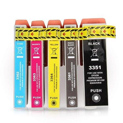 V4INK 33 X-Large Cartuchos de Tinta compatibles para Epson 33XL ...