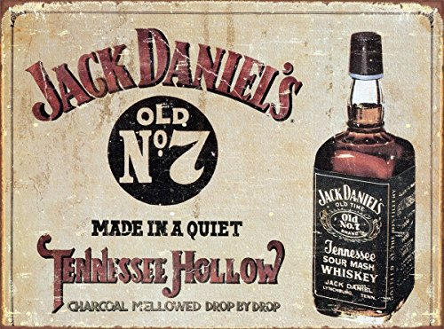 (13x16) Jack Daniel's Tennessee Hollow Whiskey Distressed Retro Vintage Tin Sign , 16x13