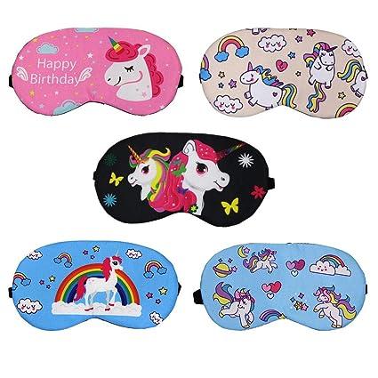 Máscara de dormir con diseño de unicornio, 5 piezas, para ...