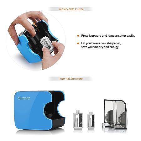 Sacapuntas Eléctrico, SMARTRO Automático, Funciona a Pilas y Alimentado por USB: Amazon.es: Juguetes y juegos