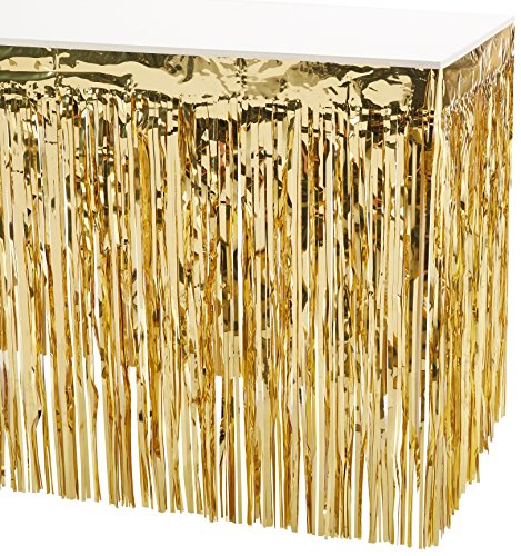 Pkgd 2-Ply FR Metallic Table Skirting (gold) Party Accessory  (1 count) (1/Pkg) for $<!--$23.99-->