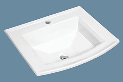 Mscbdp 2320 1w 23 X 20 White Rectangular Porcelain Drop In Top