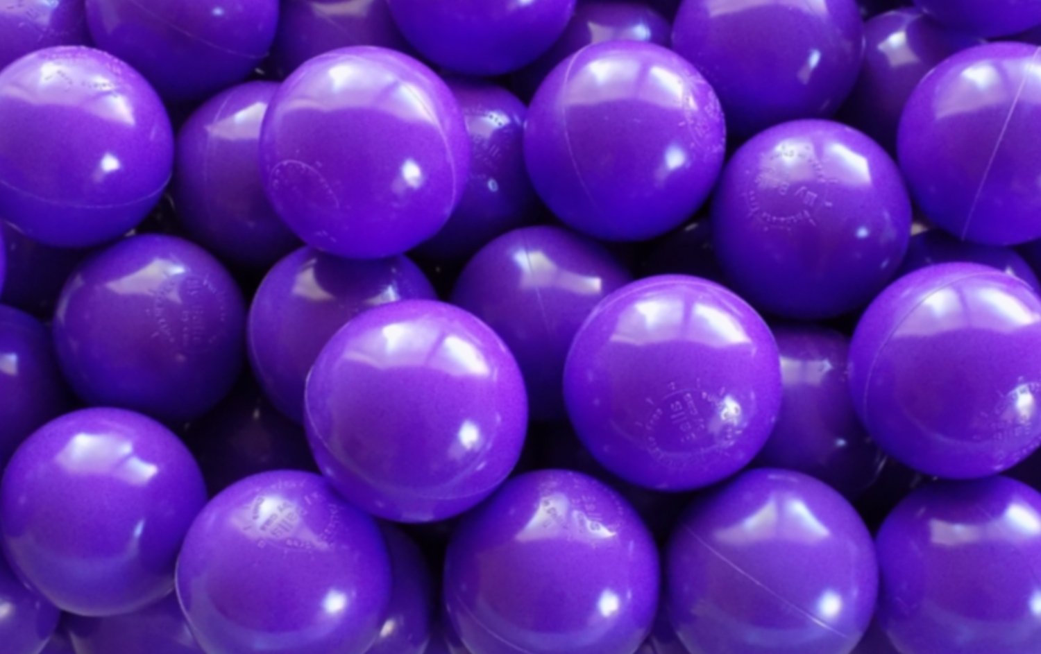My Balls Pack of 500 Jumbo 3'' Purple Color Commercial Grade Ball Pit Balls - Air-Filled Crush-Proof Phthalate Free BPA Free PVC Free Non-Toxic Non-Recycled Plastic by My Balls by CMS (Image #4)