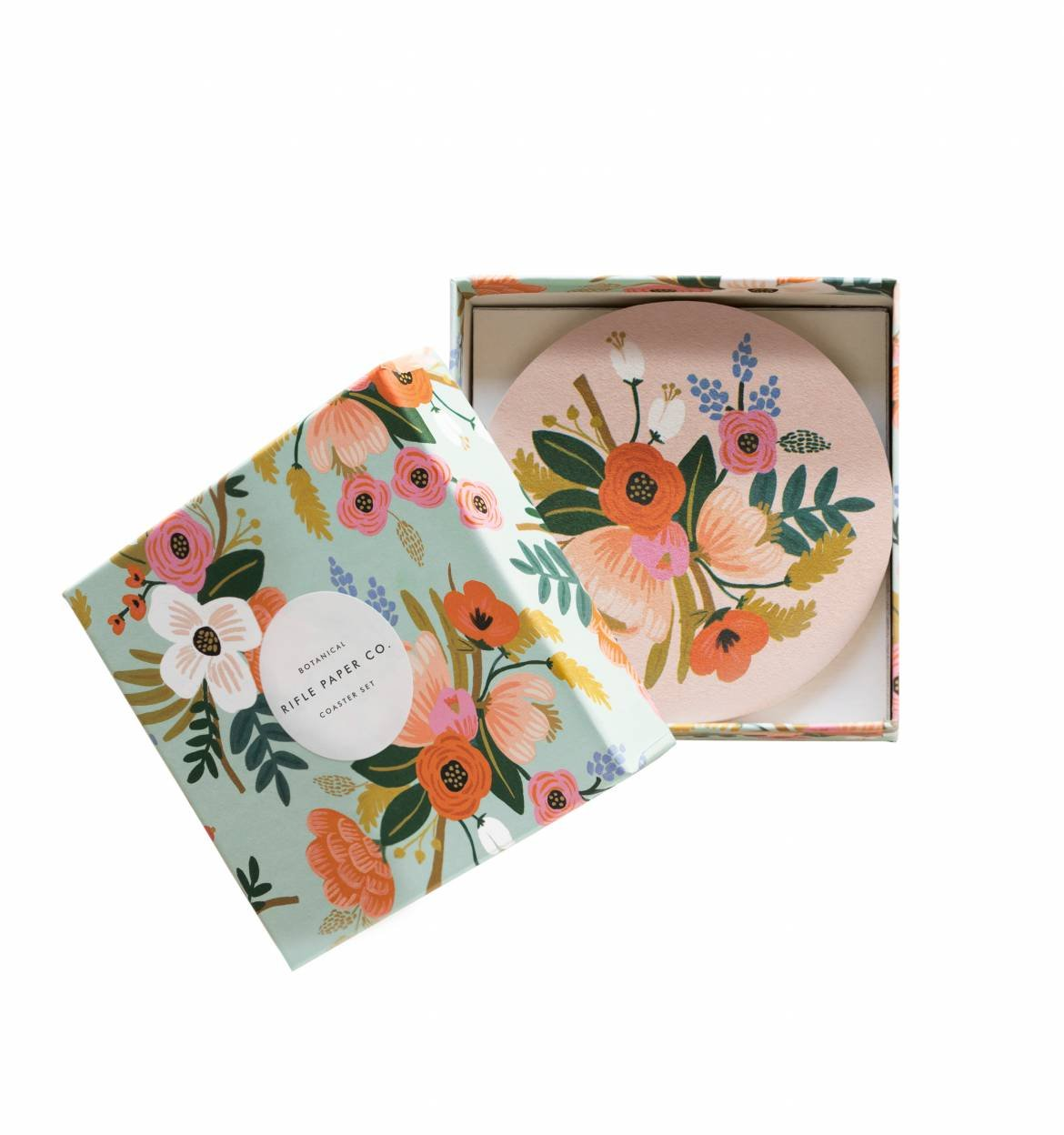 Rifle Paper Co Lively Floral Paper Coasters 並行輸入品