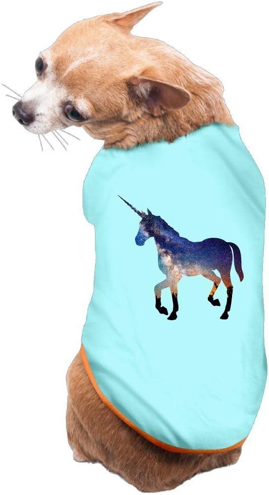 Nubia Doggie disfraz de unicornio caballo vintage T Camisa Azul Claro