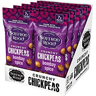 Saffron Road Organic Crunchy Chickpeas, Bombay Spice, 1.25 Ounce (Pack of 10)