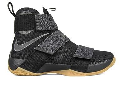 finest selection 3d1e4 26c56 Nike Herren Lebron Soldier 10 SFG Basketballschuhe, Black (Schwarz Dunkelgrau-Gum  MTLC