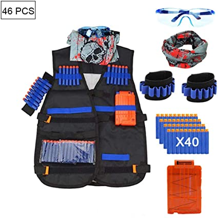 1PC Adjustable Tactical Vest Jacket Kit for Nerf Gun N-Strike Elite Series