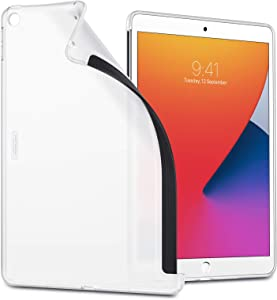 ESR Matte Case for iPad 8th Gen (2020)/7th Gen (2019) [Compatible with Smart Keyboard & Smart Cover] [Slim Back Cover Case] Project Zero Series – Translucent