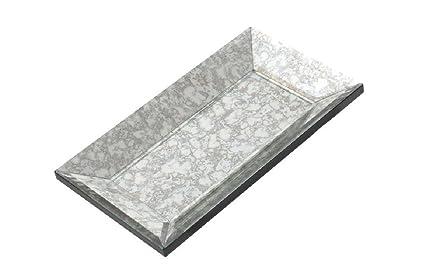 Tapidecor - Bandeja espejo cristal 28x16x3 cm