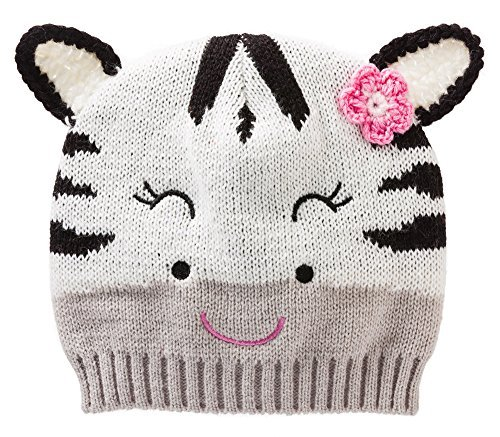 Happy Zebra Face Knit Winter Hat by Blossoms & Buds [並行輸入品]   B01AKZRW0U