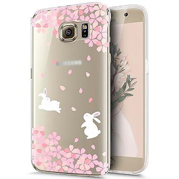 KunyFond Funda Samsung Galaxy S7 Edge,Carcasa Suave Simple Transparente Pintura Pintado Impresion Colores Premium Vistoso Silicona Frame TPU Dibujo ...