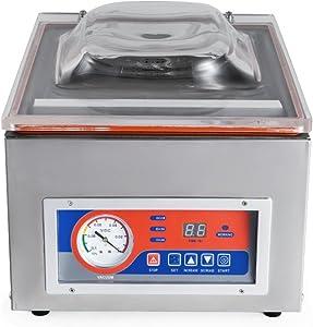 KUNHEWUHUA Commercial Vacuum Sealer Food Vacuum Sealing Machine 10''/260mm Vacuum Packaging Machine 110v