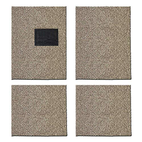 FH Group F12020 Universal Waterproof Car Floor Mats, Trim to Custom fit All-Season Heavy-Duty Durable Thick, Soft, Comfortable and Easy Clean-Beige - Honda Prelude Molded Carpet
