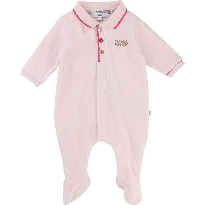 BOSS Hugo Pelele - para bebé niña Rosa 6 Meses: Amazon.es: Ropa y accesorios