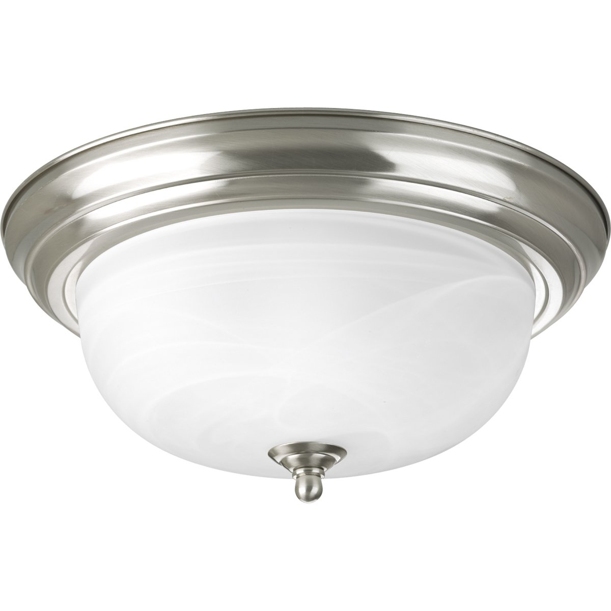 progress lighting p3925 09 two light flush mount brushed nickel finish with etched alabaster glass close to ceiling light fixtures amazoncom ceiling domes with lighting