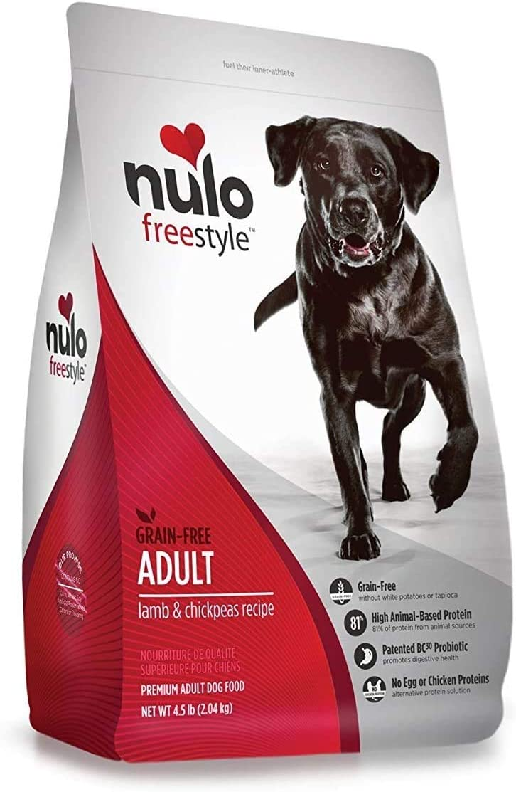 Nulo Adult Grain Free Dog Food: All Natural Dry Pet Food For Large And Small Breed Dogs (Lamb, 4.5Lb)