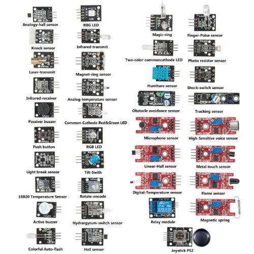 Diy maker ultimate in sensor modules learning package