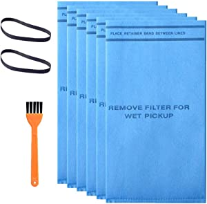6 Pack WS01025F2 Vacuum Bag Filter Compatible with Workshop Vacuums Select 2-1/2-Gallon to 5-Gallon Shop Vacuum Cleaners, Part# VF2000